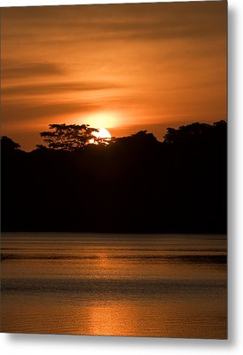 Metal Print featuring the photograph Laguna Victoria Sunset by Ron Dubin
