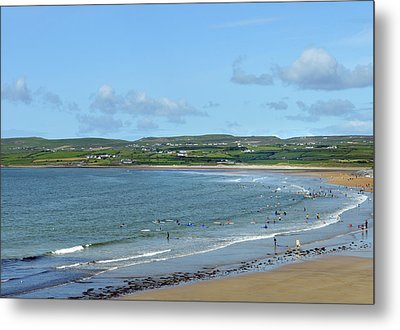 Metal Print featuring the photograph Lahinch Beach by Terence Davis