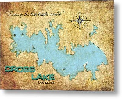 Metal Print featuring the digital art Laissez Les Bon Temps Roulet - Cross Lake, La by Greg Sharpe