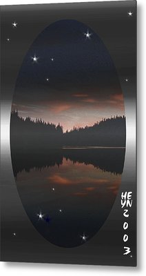 Lake At Dusk Metal Print