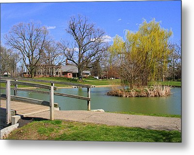 Lake At Schiller Park Metal Print
