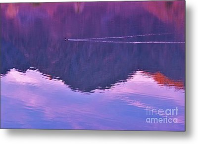 Lake Cahuilla Reflection Metal Print by Michele Penner