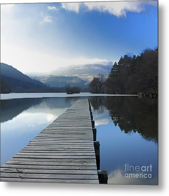 Lake Chambon. Auvergne. France Metal Print by Bernard Jaubert