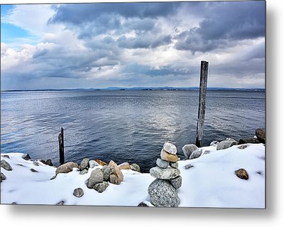 Metal Print featuring the photograph Lake Champlain During Winter by Brendan Reals