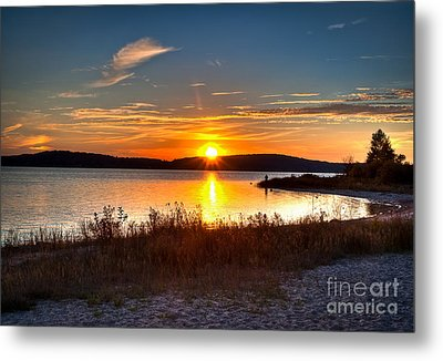 Lake Charlevoix Sunset Metal Print