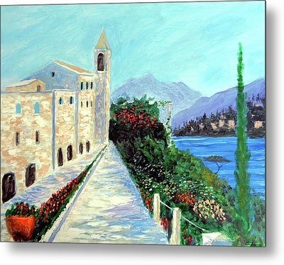 Lake Como Colors  Metal Print by Larry Cirigliano