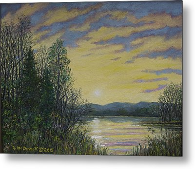 Lake Dawn Metal Print