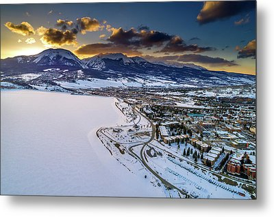 Metal Print featuring the photograph Lake Dillon Sunset by Sebastian Musial