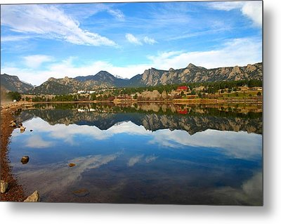 Metal Print featuring the photograph Lake Estes Reflections by Perspective Imagery