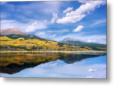 Metal Print featuring the photograph Lake Forebay Reflections by Tim Reaves