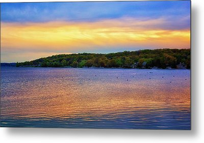 Lake Geneva Sunset Metal Print