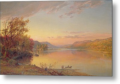 Lake George  Ny Metal Print by Jasper Francis Cropsey