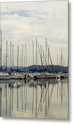 Lake Guntersville Alabama Sailboat Harbor Metal Print by Kathy Clark