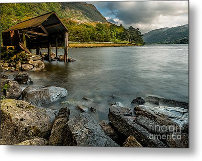 Lake Gwynant Autumn Metal Print by Adrian Evans