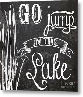 Lake House Rustic Sign Metal Print by Mindy Sommers