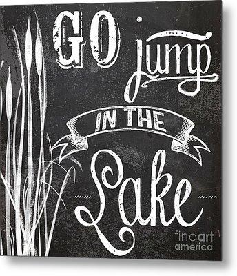 Lake House Rustic Sign Metal Print
