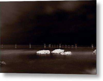 Lake Ice Metal Print by Steve Gadomski