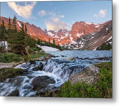 Metal Print featuring the photograph Lake Isabelle Sunrise by Aaron Spong