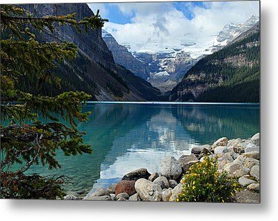 Lake Louise 2 Metal Print by Larry Ricker