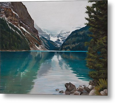 Lake Louise Metal Print by Christopher Reid
