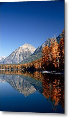 Lake Mcdonald Autumn Metal Print