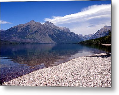 Lake Mcdonald Reflection Glacier National Park 4 Metal Print by Marty Koch