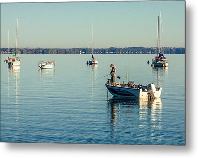 Lake Mendota Fishing Metal Print by Todd Klassy