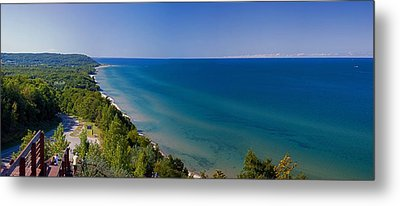 Lake Michigan From Arcadia Overlook Metal Print by Twenty Two North Photography