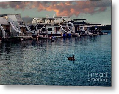 Lake Murray Morning At The Marina Metal Print by Tamyra Ayles
