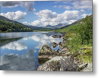Metal Print featuring the photograph Lake Mymbyr And Snowdon by Ian Mitchell