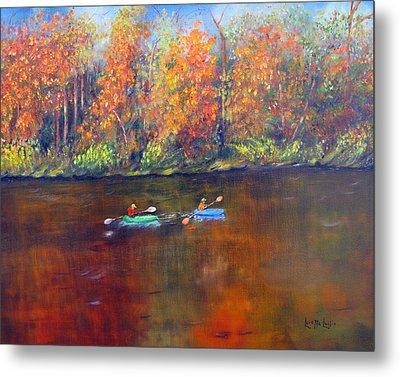 Lake Nockamixon Autumn Metal Print by Loretta Luglio