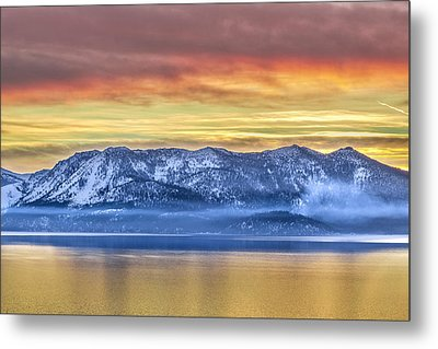 Lake Of Gold Metal Print by Steve Baranek