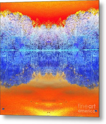 Lake Of Many Colors  Metal Print