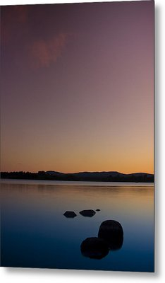 Lake Of Menteith By Sunset Metal Print