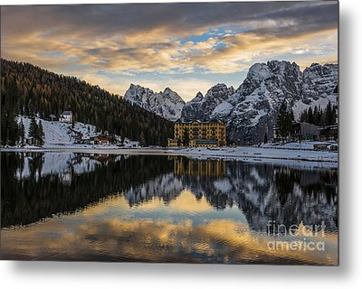 Lake Of Misurina Metal Print by Yuri Santin