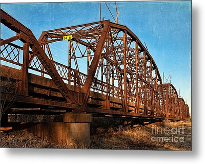 Lake Overholser Bridge Metal Print by Lana Trussell