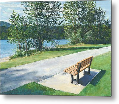 Lake Padden Series - Memorial Bench Of Andrew Phillip Jones Metal Print