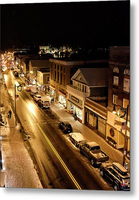 Metal Print featuring the photograph Lake Placid New York - Main Street by Brendan Reals