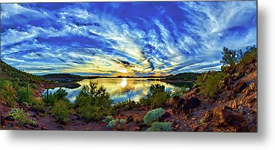 Lake Pleasant Sunset 3 Metal Print