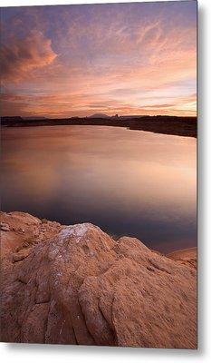 Lake Powell Dawn Metal Print by Mike  Dawson