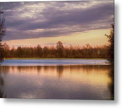 Lake Reflection Metal Print by Wim Lanclus