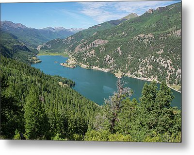 Metal Print featuring the pyrography Lake San Cristobal by Aaron Spong