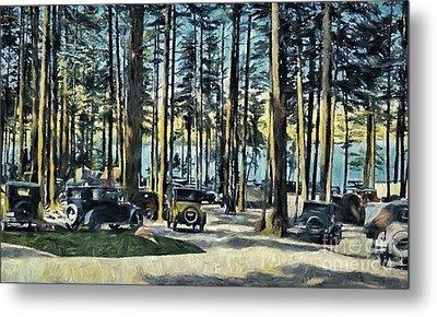 Lake Shore Park - Gilford N H Metal Print