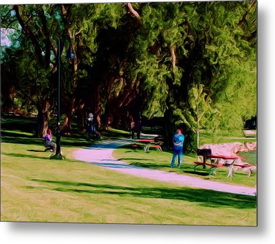 Lake Side Park Metal Print