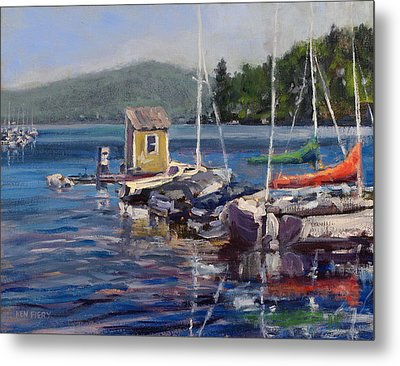 Lake Sunapee Boat Dock Metal Print