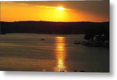 Lake Sunset  Metal Print by Don Koester