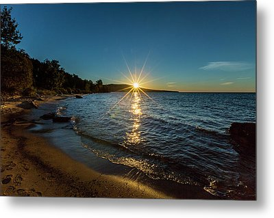 Lake Sunset Metal Print by Jack R Perry