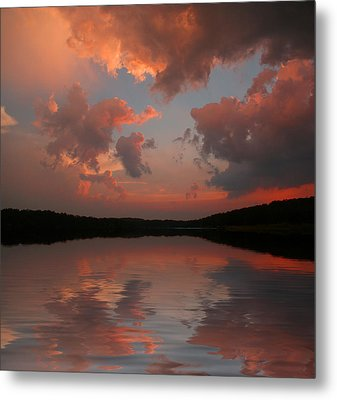 Lake Sunset Metal Print by Rick Friedle