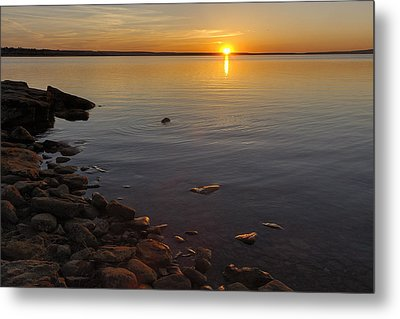 Lake Sunset Metal Print by Rob Graham