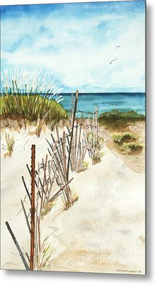 Metal Print featuring the painting Lake Superior Munising by Sandra Strohschein